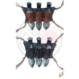 Foureau pour armes de jet (x3)