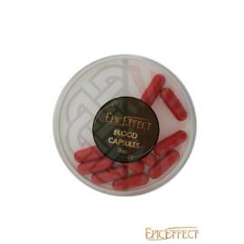 10 capsules de faux sang