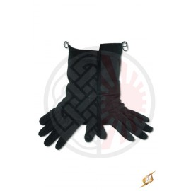 Gants cuir noir
