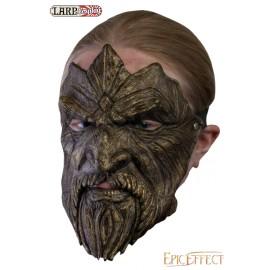 Masque trophée - Barbu en bronze