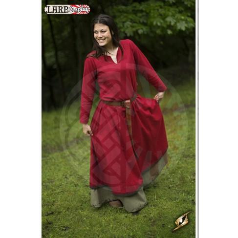 Basic Dress - Rouge Foncé / Marron