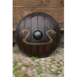 Bouclier Viking Dragon Bois