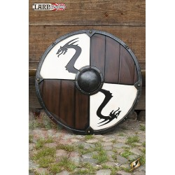 Bouclier Viking Dragon Blanc
