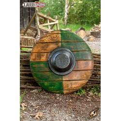 Bouclier Drang Vert / Bois - ø50 cm