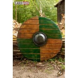 Bouclier Drang Vert / Bois - ø70 cm